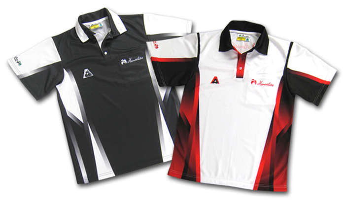 Henselite Tournament Polo Shirt Red and Black Front View